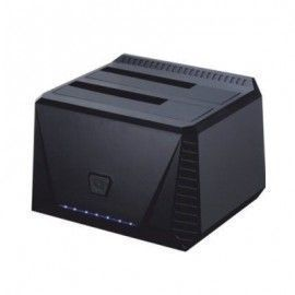 Tooq TQDS-902B Dock Station Doble Bahóa HDD Negro